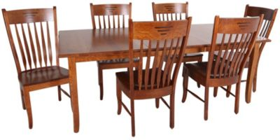 Palettes Classic Shaker Table & 6 Side Cahirs