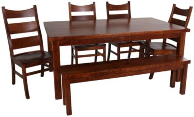 Palettes Cherry Table, 4 Rochester Chairs & 1 Bench