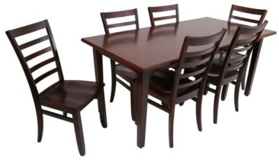 Palettes Laminate Table & 6 Dexter Side Chairs