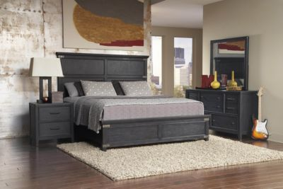 Pulaski Vintage Tempo 4-Piece King Bedroom Set