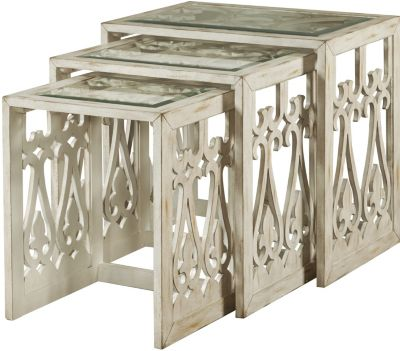 Pulaski Cream Nesting Tables (Set of 3)