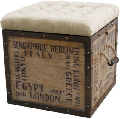 Pulaski Cities Upholstered Ottoman