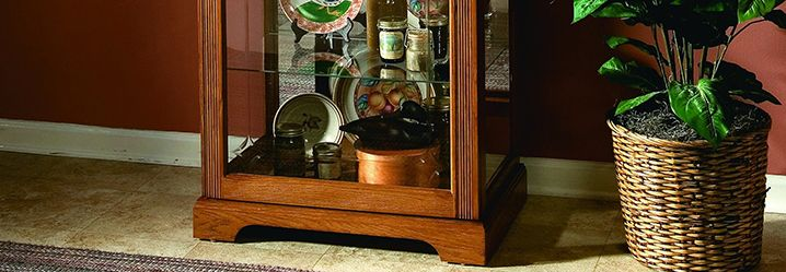 curio cabinets and glass display cabinets