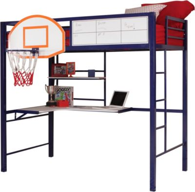 Powell Hoops Metal Basketball Loft Bed