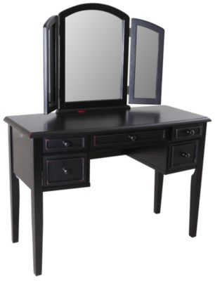 Powell Antique Black Vanity