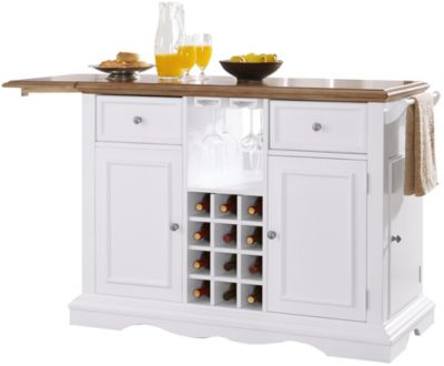 Powell Alton White Kitchen Island