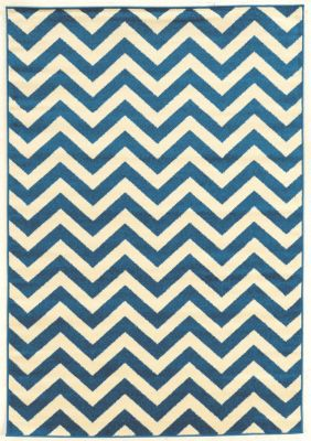 Powell Claremont Blue Chevron 5' x 7'