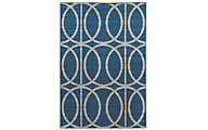 Powell Claremont Blue Circles 5' x 7'