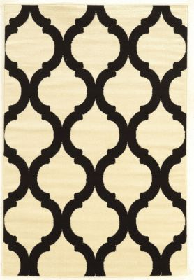 Powell Claremont Black/Cream Lantern 5' x 7'