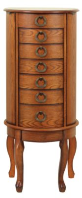 Powell Burnished Oak Jewelry Armoire Homemakers Furniture
