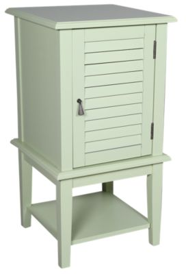 Powell Sea Green Shutter Door Table