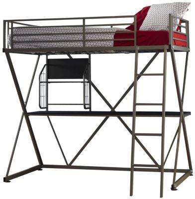 Powell Z Twin Metal Loft Bed