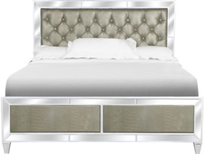 Magnussen Monroe Queen Mirrored Bed