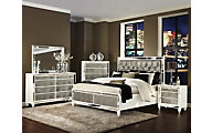 Magnussen Monroe 4-Piece Queen Mirrored Bedroom Set