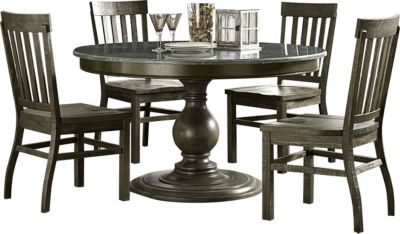 Magnussen Karlin 5-Piece Round Bluestone Dining Set