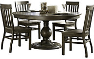 Magnussen Karlin 5-Piece Round Wood Dining Set