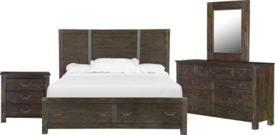 Magnussen Pine Hill 4-Piece Queen Storage Bedroom Set