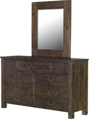 Magnussen Pine Hill Dresser with Mirror