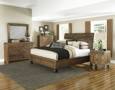 Magnussen River Road 4-Piece King Caster Bedroom Set