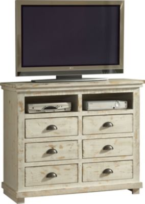 Progressive Willow White Media Chest