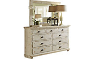 Progressive Willow White Dresser with Mirror