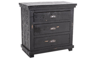 Progressive Willow Black Nightstand