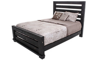 Progressive Willow Black Queen Bed