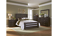 Progressive Willow Black 4-Piece Queen Bedroom Set