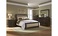 Progressive Willow Black 4-Piece King Upholstered Bedroom Set