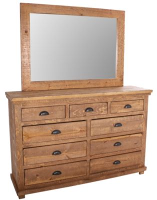 Progressive Willow Pine Dresser with Mirror