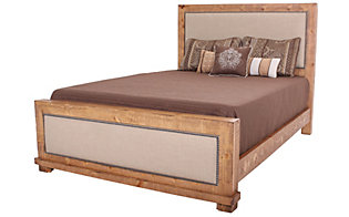 Progressive Willow Pine King Upholstered Bed