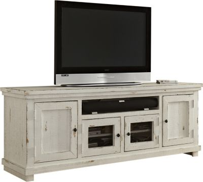 Progressive Willow White 74-Inch TV Console
