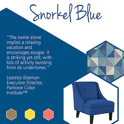 Update your home with stylish home goods featuring Pantone spring colors like Snorkel Blue.