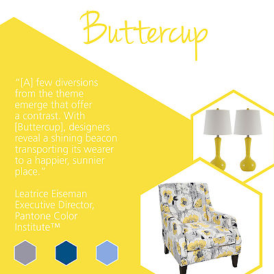 Update your home with stylish home goods featuring Pantone spring colors like Buttercup.