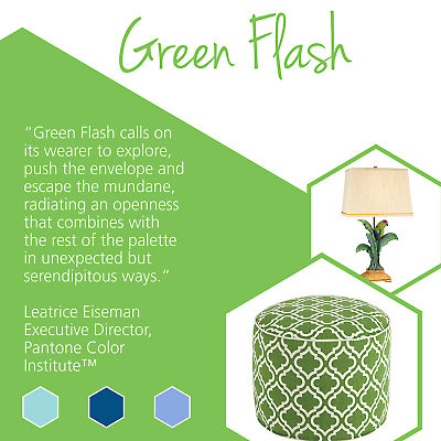 Update your home with stylish home goods featuring Pantone spring colors like Green Flash.