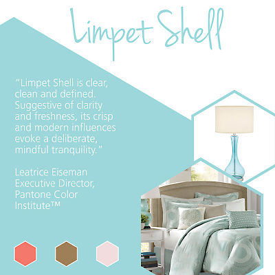 Update your home with stylish home goods featuring Pantone spring colors like Limpet Shell.