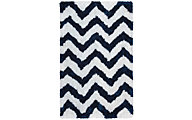 Rizzy Commons Chevron Navy 8' x 10'