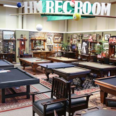 Furniture showroom departments homemakers for Indoor game room ideas