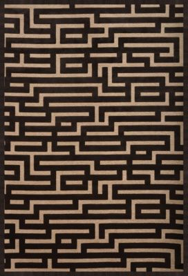 Sams International Napa Maze Charcoal 5' x 8'