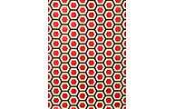 Sams International Sonoma Honeycomb Cranberry5' x 8'