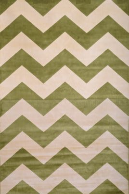 Sams International Sonoma Chevron Apple Green 5' x 8'
