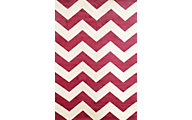Sams International Sonoma Chevron Cranberry 5' x 8'