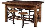 Samuel Lawrence American Attitude Table with built-in Stools