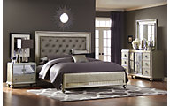 Samuel Lawrence Platinum 4-Piece King Bedroom Set