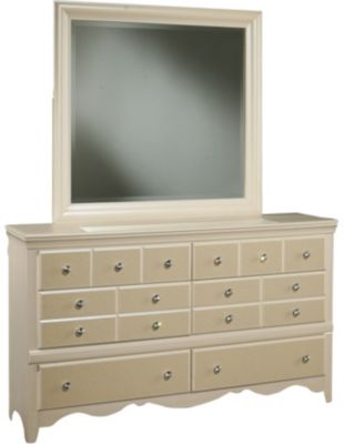 Sandberg Furniture Marilyn Dresser with Mirror