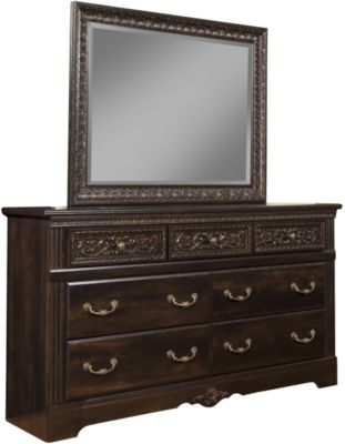Sandberg Furniture Andorra Dresser with Mirror