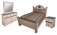 Sandberg Furniture Casa Blanca 4-Piece Queen Bedroom Set