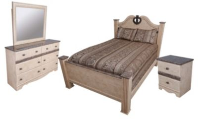 Sandberg Furniture Casa Blanca 4-Piece King Bedroom Set