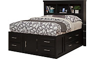 Sandberg Furniture Serenity Full Bookcase Storage Bed
