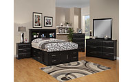 Sandberg Furniture Serenity 4-Piece Queen Storage Bedroom Set